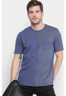 Camiseta Burn Com Bolso Full Print Masculina - Masculino