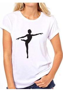 Camiseta Bailarina Coolest Feminina - Feminino-Branco