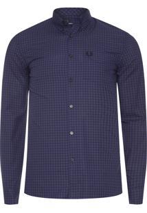 Camisa Masculina Three Colour Gingham - Azul Marinho