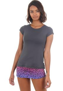 Camiseta Feminina Aiyra - Grafite