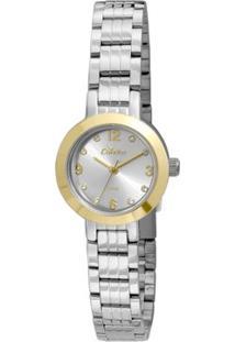 Relógio Condor Mini - Feminino-Prata+Dourado