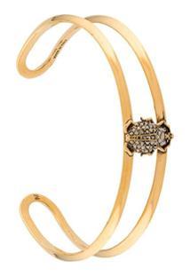 Alexander Mcqueen Beetle Motif Bracelet - Dourado