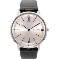 d51fcf4b0e4 Relógio Tommy Hilfiger Masculino Couro Preto - 1710370 Vivara