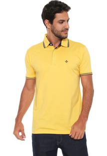 Camisa Polo Dudalina Reta Amarela