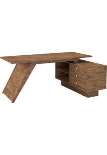 Mesa Para Escritório Com Gavetas- Nobre- 75X170X75Cmdalla Costa