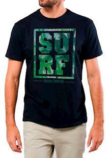 Camiseta Masculina Sandro Clothing Surf Tropical Preta