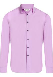 Camisa Masculina Informal Sem Costura - Rosa