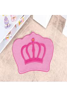Tapete Formato Feltro Antiderrapante Coroa Rosa - Multicolorido - Dafiti