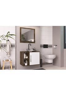 Conjunto De Banheiro Completo Elite: Balcão, Painel E Cuba