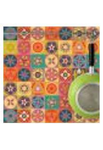 Adesivo De Azulejo Colorido Flores 20X20 Cm Com 24Un