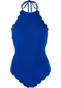 Marysia Maiô Frente Única - Azul