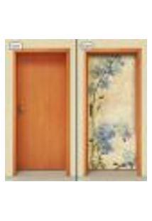 Adesivo Decorativo De Porta - Flores - 1981Cnpt
