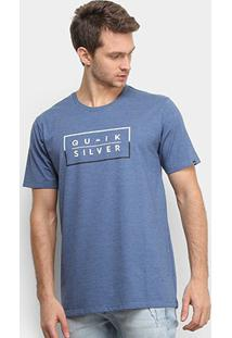 Camiseta Quiksilver Clued Up Masculina - Masculino-Azul