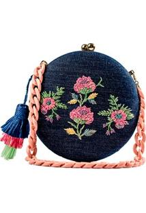 Clutch Jeans Bordada Serpui Marie