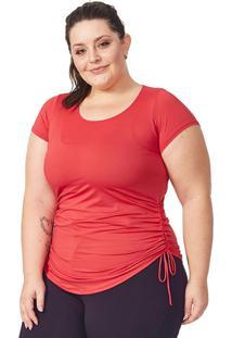 Blusa Plus Dry Vermelho Com Regulagem