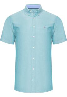 Camisa Masculina Wcc Oxford - Verde Claro