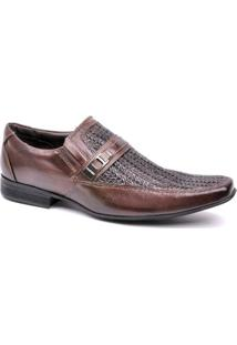 Sapato Social Calvest Italiano - Masculino-Marrom