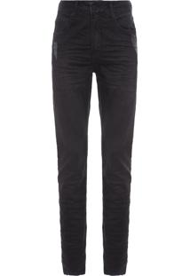 Calça Masculina Jeans Five Pockets Slim - Preto