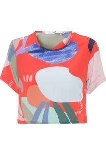 Camiseta Feminina Tee Cropped Seda - Vermelho