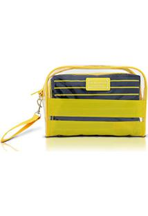 Kit Necessaire Com 2 Peças Felicità Ahl15078 - Jacki Design (Amarelo)