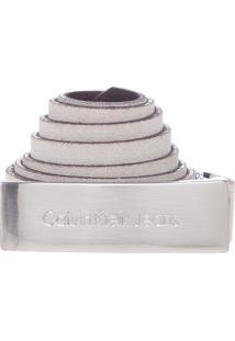 Cinto Calvin Klein Fino Off-White