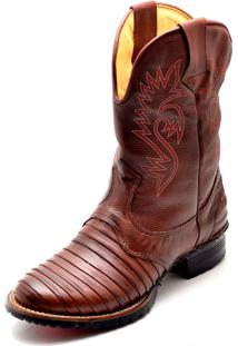 Bota Clube Do Sapato De Franca Country Texana Kansas Chocolate
