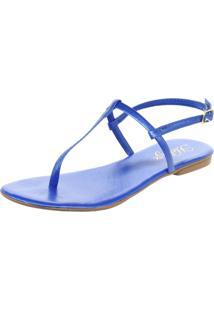 Sandalia Rasteira Heloize Calã§Ados Azul - Azul - Feminino - Dafiti