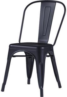 Cadeira Iron Tolix Preta Fosca - 58153 - Sun House