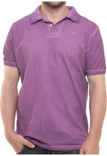 Camisa Polo Oitavo Ato Stone Wash Espatulada - Masculino-Lilás
