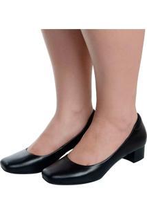 Sapato Laura Prado Boneca Confort Preto