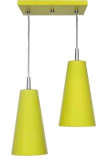 Pendente Cone Mini Tóquio Duplo Amarelo Attena