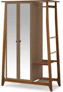 Armario Multiuso Stoka 2 Portas Marrom Claro Estrutura Amendoa 169Cm - 60969 - Sun House