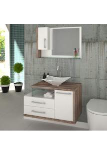 Espelheira Para Banheiro 1 Porta Legno Compace