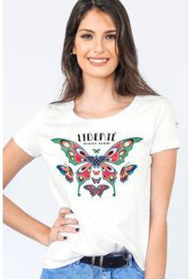 Camiseta Bandup Wonder Woman Liberté - Feminino-Off White