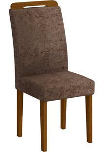 Cadeira Athenas Suede - Rufato - Imbuia / Chocolate