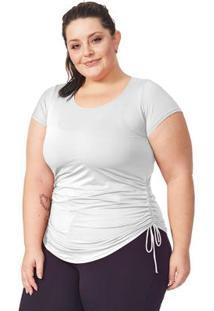 Blusa Plus Dry Branco Com Regulagem