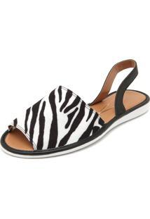 Rasteira Vizzano Zebra Branco