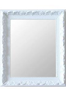 Espelho Moldura Rococó Raso 16379 Branco Art Shop