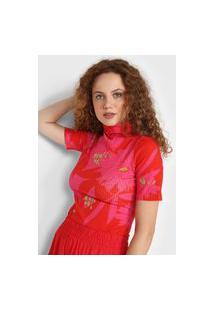 Blusa Forum Canelada Rosa/Vermelha