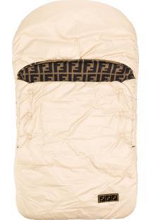 Fendi Kids Cobertor Com Padronagem De Logo - Neutro