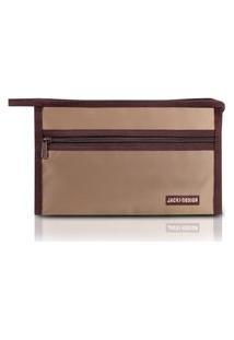 Necessaire Envelope Jacki Design Essencial Iii Marrom
