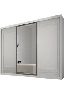 Guarda-Roupa Ravena Branco 3 Portas De Correr Com 1 Espelho Rufato Móveis