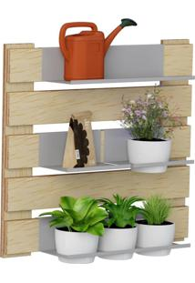 Kit Jardim Vertical 1007 Lyam Decor Green Com 04 Cachepots Bege