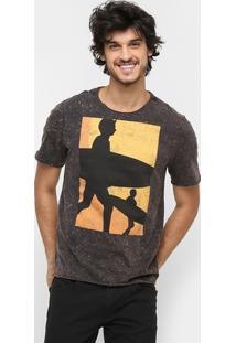 Camiseta Triton Marmorizada Surf Life - Masculino