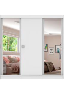 Guarda-Roupa Casal Napoli3 Portas 2 Espelhos Branco Madesa