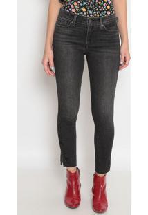Calça 711™ Skinny Com Bordado- Cinza Escurolevis