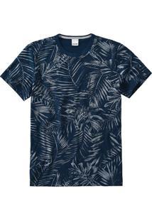 Camiseta Slim Folhagem Malwee