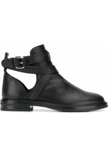 Casadei Ankle Boot Com Alças Cruzadas - Preto
