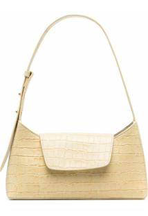 Elleme Envelope Crocodile-Effect Shoulder Bag - Amarelo