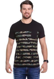 Camiseta Javali Camuflada Preta